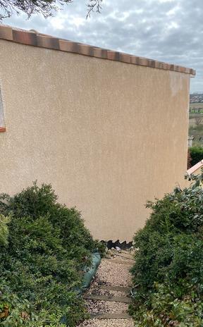 Nettoyage de façades avec finition hydrofuge à Lauzerville