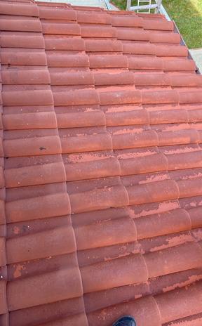 Avant nettoyage complet de la toiture à L'Union