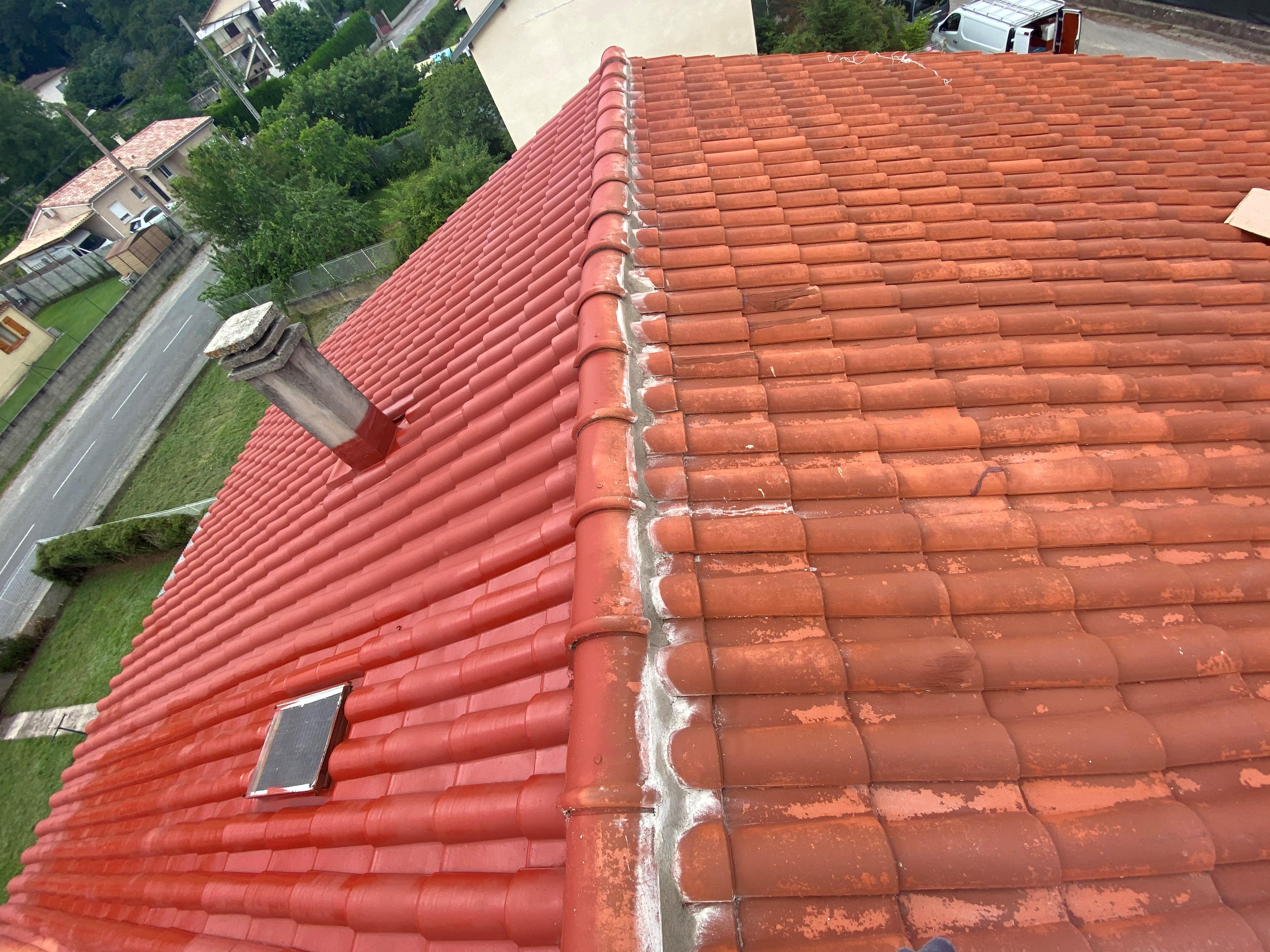 Revêtement de toiture coloré et étanche à Toulouse