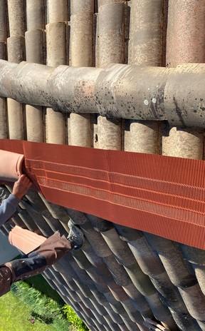 Changement closoir de faitage à sec à Toulouse